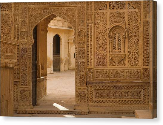 Skn 1317 Threshold Of Carvings Canvas Print