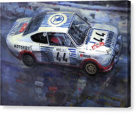 Paper Canvas Print - Skoda 130 Rs #44 Monte Carlo 1977 by Yuriy Shevchuk