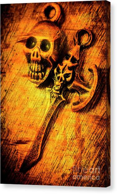 Punk Canvas Print - Skull And The Sword by Jorgo Photography - Wall Art Gallery