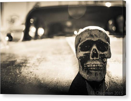 Skull Car Canvas Print