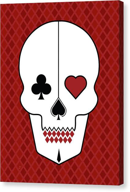 Skull Canvas Print - Skull Cards by Francisco Valle