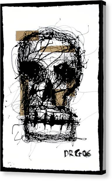 Skull Canvas Print by Dmitry Gubin