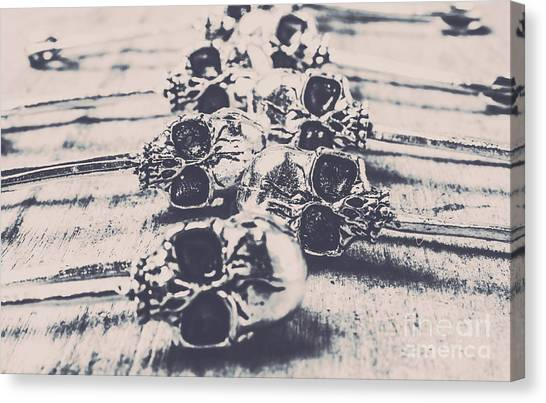Punk Canvas Print - Skull Fashion Accessories  by Jorgo Photography - Wall Art Gallery