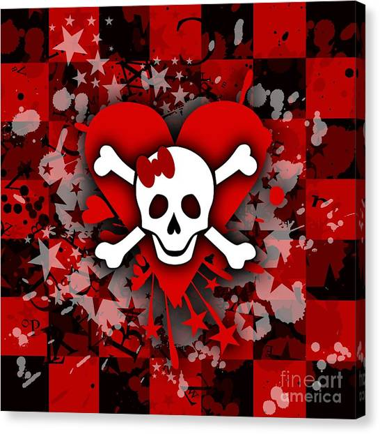 Skull Romance Canvas Print