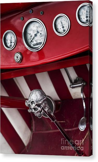 Street Rods Canvas Print - Skull Shifter by Tim Gainey