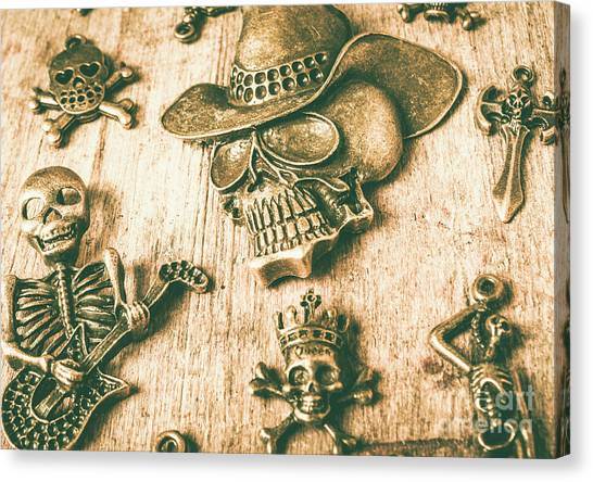 Skeletons Canvas Print - Skulls And Pieces by Jorgo Photography - Wall Art Gallery