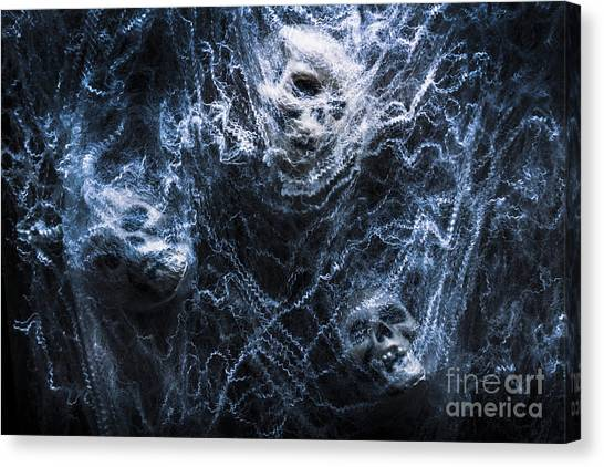 Skulls Tangled In Fear Canvas Print