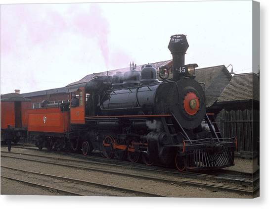 Skunk Train No 45 Fort Bragg California Canvas Print