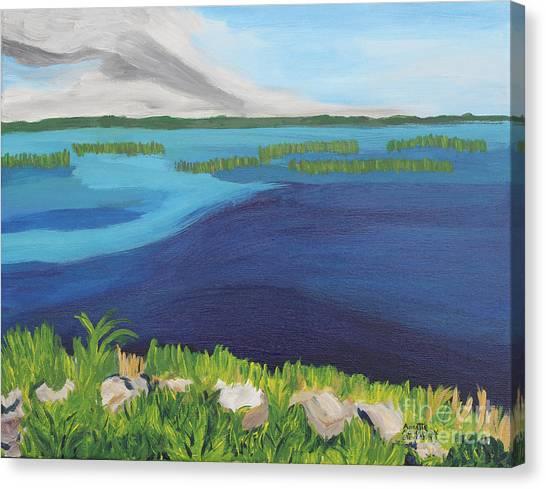 Serene Blue Lake Canvas Print