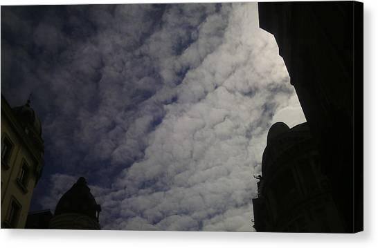 Smallmouth Bass Canvas Print - Sky And Shadows Of The Buildings In Belgrade by Anamarija Marinovic