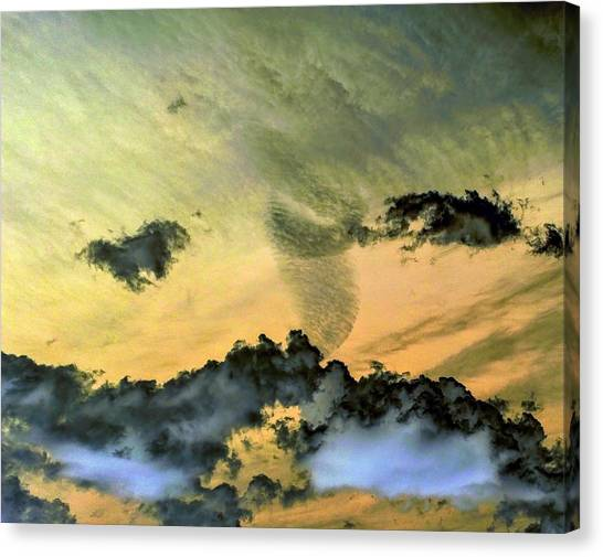 Cloud Art Inverted Colors Canvas Print