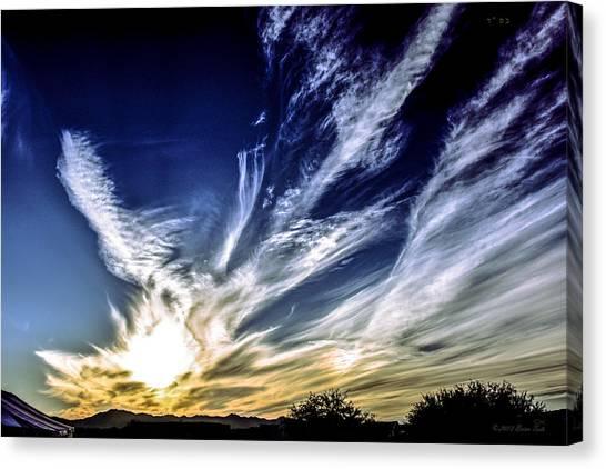 Sky Artistry Over Chandler Arizona Canvas Print