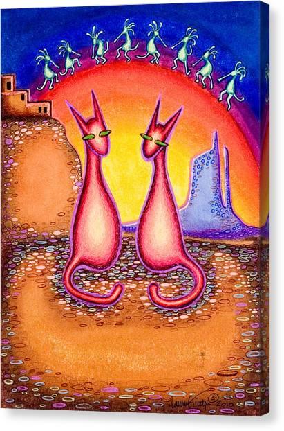 Sky City Kats Canvas Print