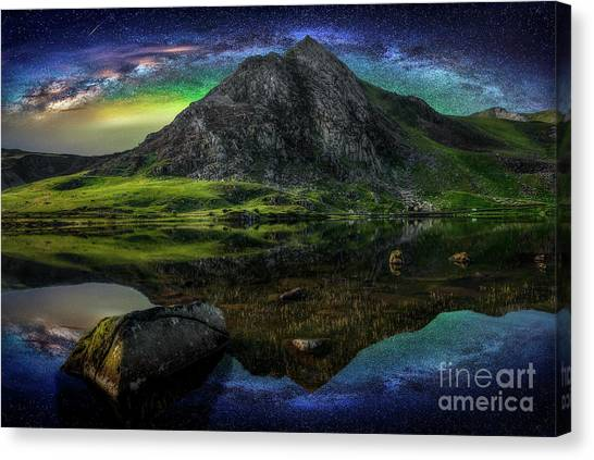 Tryfan Mountain Canvas Print - Sky Full Of Stars by Adrian Evans