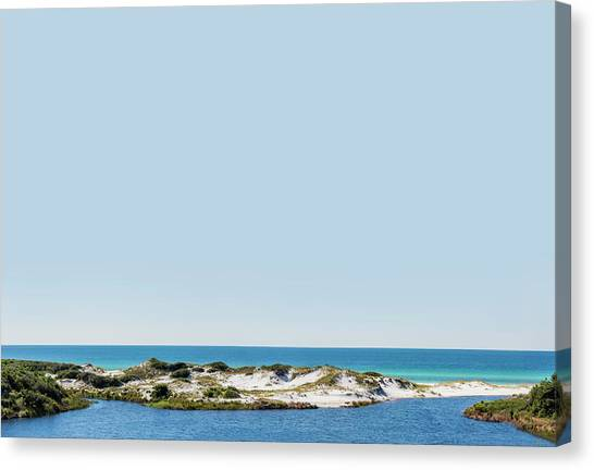 Sky Gulf Dunes Lake Canvas Print