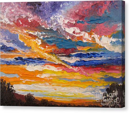 Sky In The Morning.             Sailor Take Warning  Canvas Print