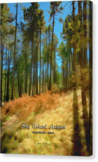 Sky Island Autumn Canvas Print