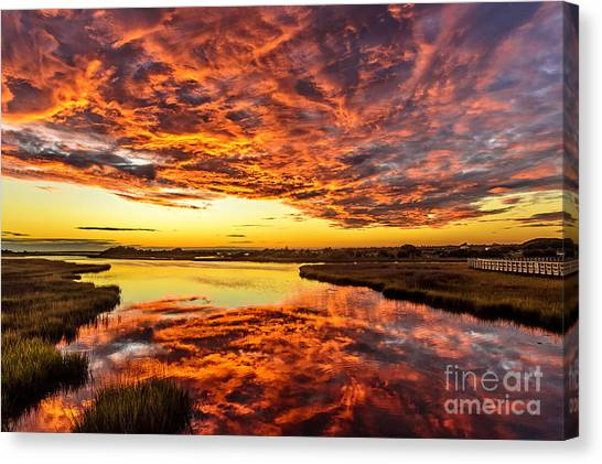 Sky On Fire Canvas Print