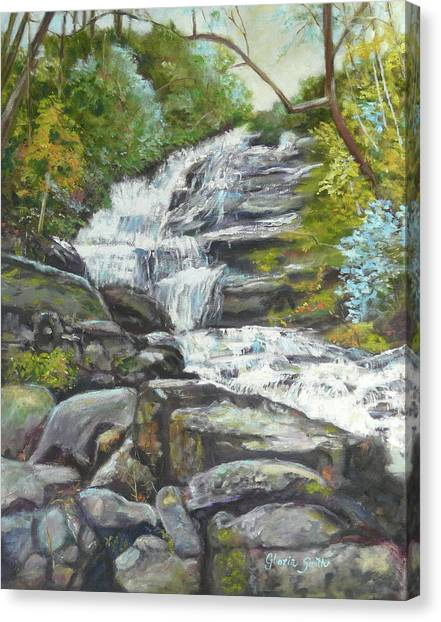 Sky Valley Waterfall Canvas Print by Gloria Smith
