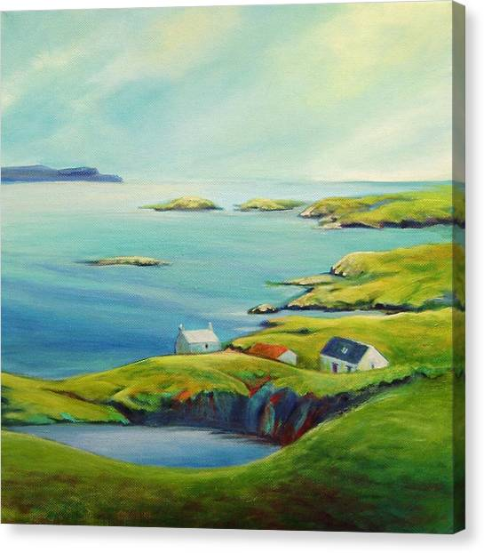 Sky View From Harris Canvas Print by Stephanie  Maclean