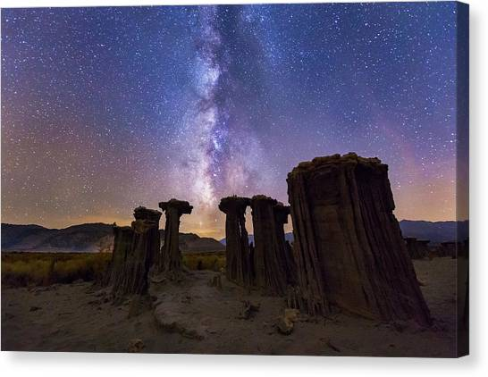 Canvas Print featuring the photograph Sky Watchers by Tassanee Angiolillo