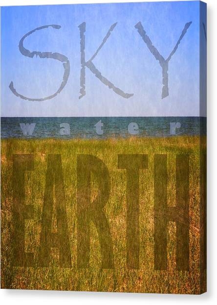Sky Water Earth 2.0 Canvas Print