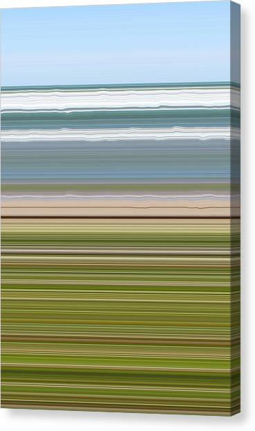 Sky Water Earth Grass Canvas Print