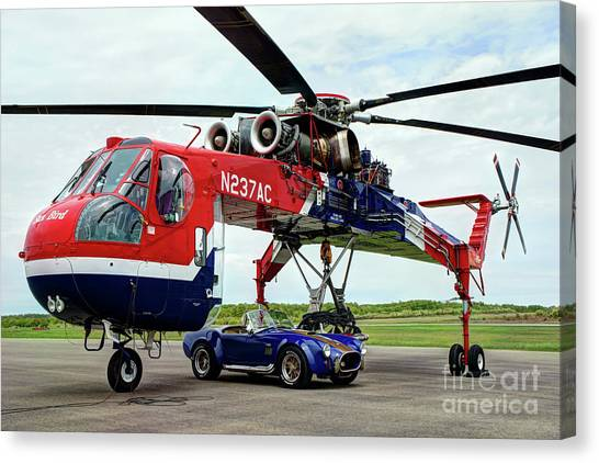 Skycrane Canvas Print - Skycrane And Cobra by Rick Mann