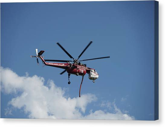 Skycrane Works The Red Canyon Fire Canvas Print