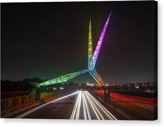 Skydance Bridge Okc Canvas Print