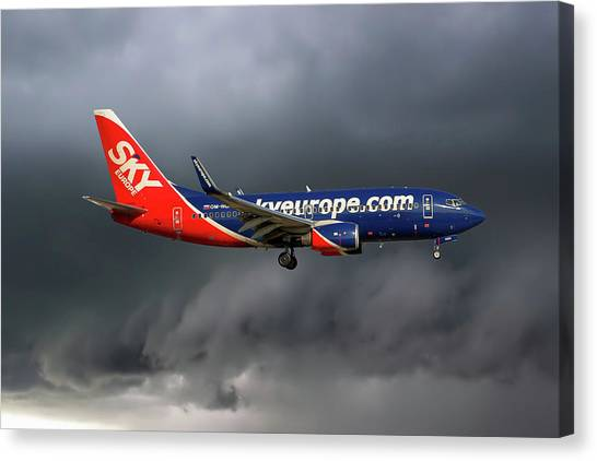 Airlines Canvas Print - Skyeurope Boeing 737-7gl by Smart Aviation