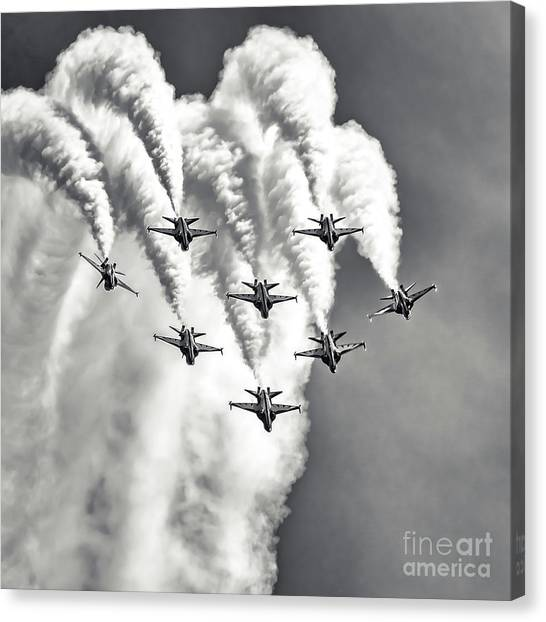 Canvas Print featuring the photograph Skyfall by Ray Shiu