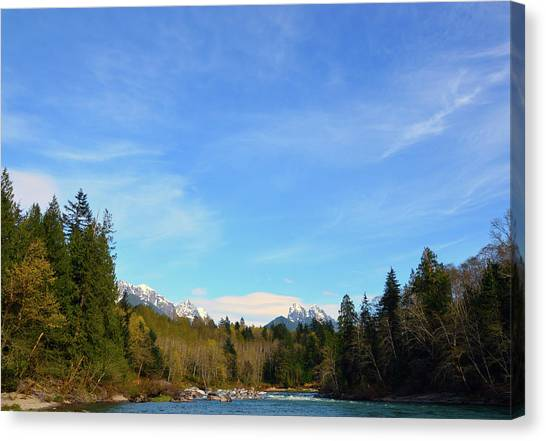 Skykomish River And Persis Canvas Print