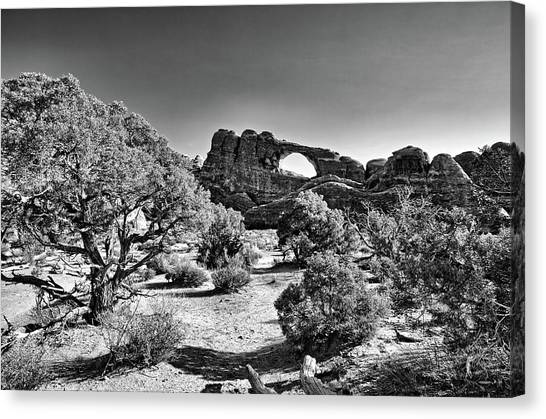 Skyline Arch In Arches National Park Canvas Print