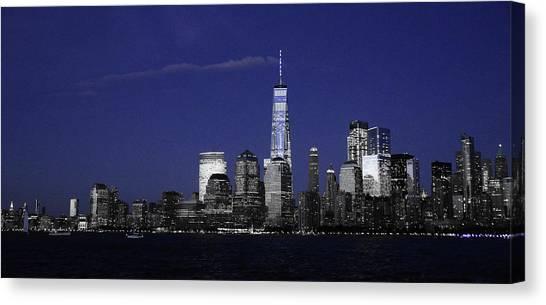 Skyline At Night  Canvas Print