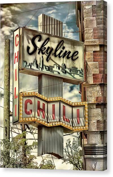 University Of Cincinnati Canvas Print - Skyline Chili #2 by Stephen Stookey