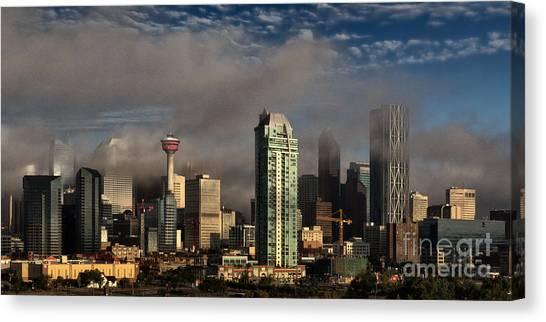 Canvas Print featuring the photograph Skyline Fog by Brad Allen Fine Art