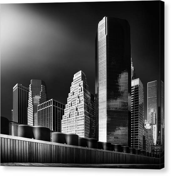 New York Skyline Canvas Print - Skyline by Hans Bauer