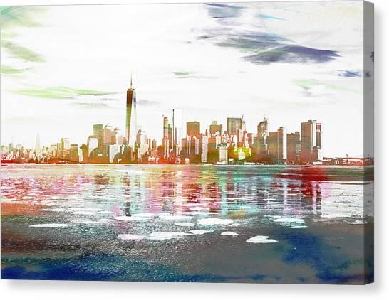 Skyline Of New York City, United States Canvas Print