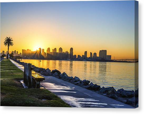 Divine Skyline Sunrise Canvas Print
