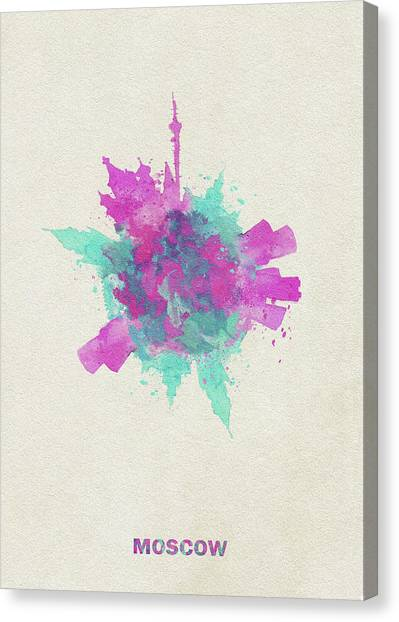 Moscow Skyline Canvas Print - Skyround Art Of Moscow, Russia by Inspirowl Design