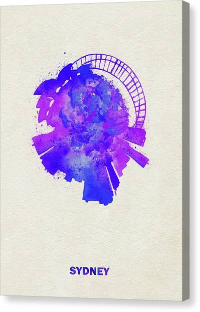 Sydney Skyline Canvas Print - Skyround Art Of Sydney, Australia by Inspirowl Design