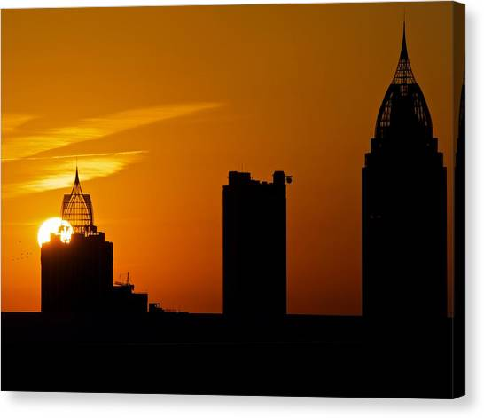 Skyscraper Sunset Canvas Print