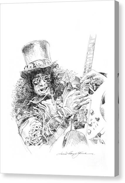 Guns N Roses Canvas Print - Slash by David Lloyd Glover
