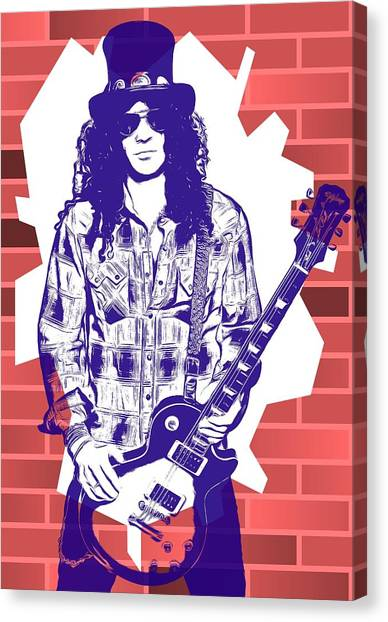 Graffiti Walls Canvas Print - Slash Graffiti Tribute by Dan Sproul