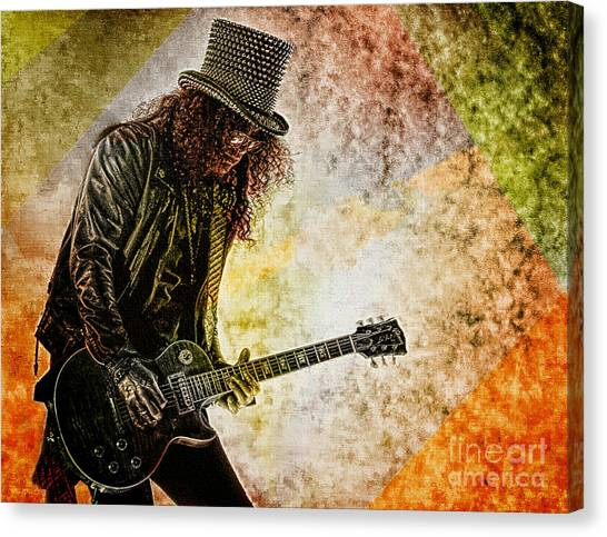 Slash - Guitarist Canvas Print