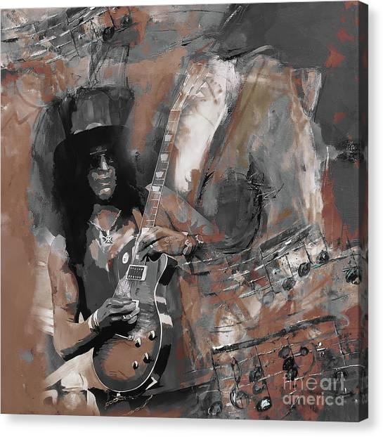 Slash Guns And Roses  Canvas Print