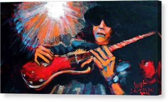 Canvas Print featuring the painting Slash by Jeanette Jarmon
