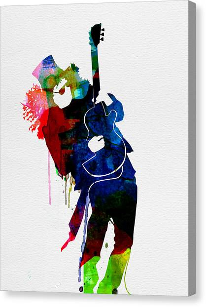 Guns N Roses Canvas Print - Slash Watercolor by Naxart Studio
