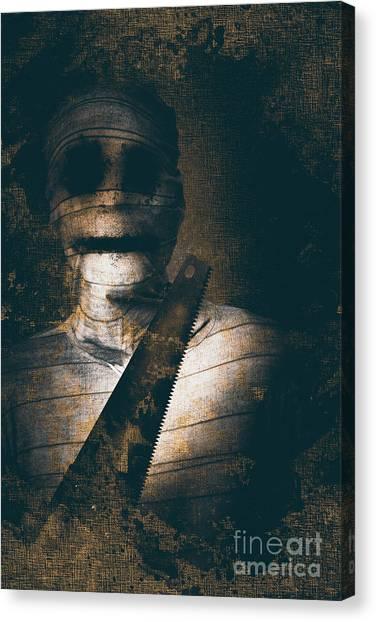 Saws Canvas Print - Slasher Horror Mummy by Jorgo Photography - Wall Art Gallery